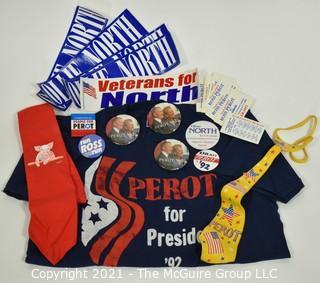 `Ross Perot & Oliver North Political Campaign Memorabilia .