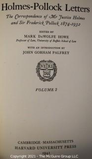 Grouping of (6) volumes including 2 volume set of the Holmes-Pollack Letters