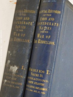 "2 Vol. Set: ""Nautical Records of the Union and Confederate Navies in the War of the Rebellion"""