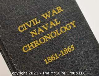 """2 Books: """"Civil War Naval Chronology; 1861-1865; and, """"Our Many Sided Navy"""" by R. W. Neeser"""