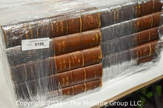 """Set of (10) Volume Leather Bound Books: """"Chambers's Encyclopedia: A Dictionary of Universal Knowledge for the People; Illustrated; 1868"""