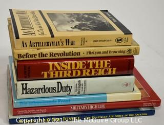 Grouping of (7) volumes, mostly on military history