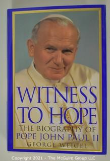 """Witness To Hope"", the biography of John Paul II, by George Weigel; signed"