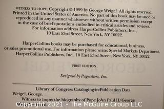 """""""Witness To Hope"""", the biography of John Paul II, by George Weigel; signed"""