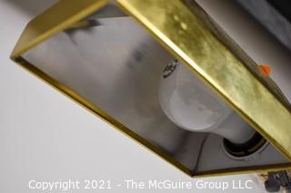 Swiveling Brass Toned Floor Lamp
