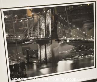 "Large photo titled ""Brooklyn Bridge IV""; pencil signed by Joel Greenberg; framed under glass; 32""T x 42""W"