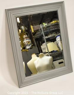Grey Framed mirror; 29 1/2 x 35 1/2""