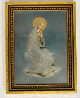 Framed Color Print of Blessed Virgin Mary; 10 1/4 x 13 1/2""