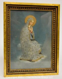 """Framed Color Print of Blessed Virgin Mary; 10 1/4 x 13 1/2"""""""