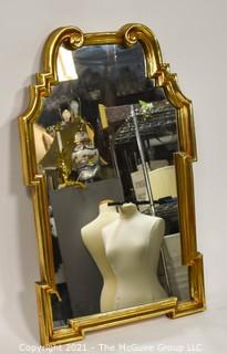 "Gilt framed wall mirror; 24 x 40""T"