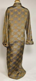 Asian Caftan in Silver with Gold Decoration by Diamond Tea from Neiman Marcus, No Size.