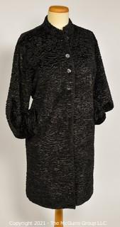 Louis Féraud Persian Lamb Shearling Fur Coat in Long Silhouette