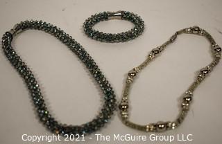 Three Pieces of Sparkly Jewelry.