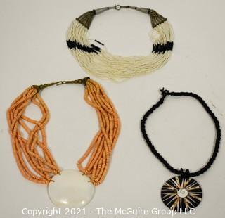Three (3) Beaded Necklaces.