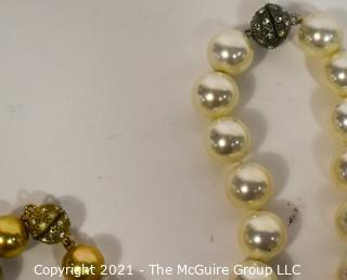 Group of (5) Faux Pear Necklaces.