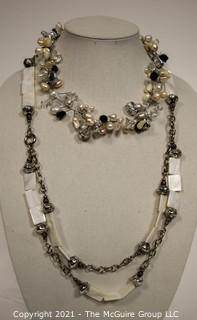Two Costume Jewelry Necklaces