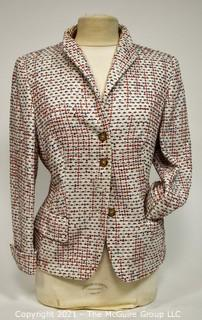Trixie Schober of Germany White Wool with Accents Jacket Size 12.