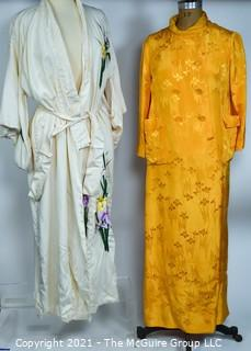 Two (2) Silk Japanese Kimono Robes, One made by Dynasty and the Other Embroidered.