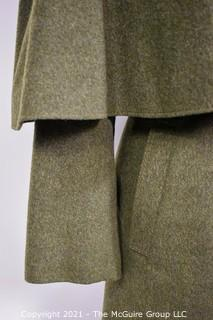 Original Green Wool Himalaya DeLuxe Tiroler Loden Coat with Cape made by Loden-Prankl of Austria.  Vienna's oldest store specializing in loden and traditional clothing has stood on Michaelerplatz since 1830