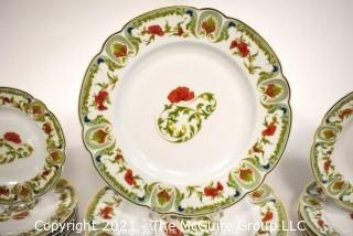 Set of Haviland Limoges Mozart Chantoung Porcelain Tableware