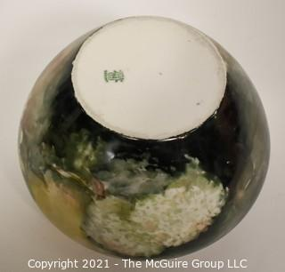 "Large Hand Painted Limoges France Bowl or Planter.  Measures approximately  6 1/4"" at rim x 5 1/2""T"