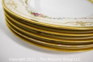 """(5) 10 3/8"""" diameter Bavarian Hutschenreuther Dinner plates"""
