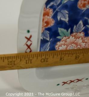 Three (3) Pieces of Asian Stamped Hand Painted Porcelain.  Includes Gold Imari.