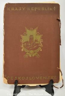Krasy Republiky Ceskoslovenske by Herain, K.; Harlas, F.X.; Hlavin, Jindrich  1919 - 1923 Print Portfolio