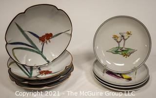 Two (2) Sets of Porcelain Hand Painted Plates