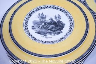 "Villeroy & Boch ""Audun Fleur"" Dinnerware - Salad Plates & Dinner Plates."