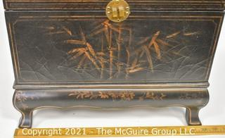 """Contemporary Lacquered Tea Box, Lined. Measures approximately 17""""W x 11""""D x 14""""T"""