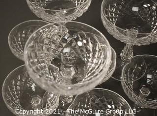 """Waterford Crystal: <br>  <br> (9) 5 1/2"""" Comeragh Pattern Champagne/Sherbert Stems"""