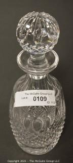 """Waterford Crystal Decanter with Stopper; 10 3/4""""T"""
