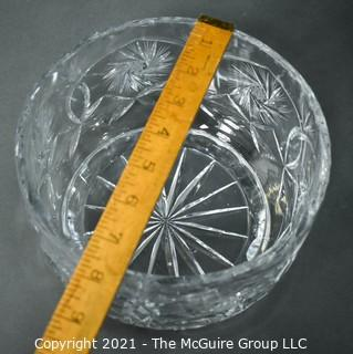 "Clear Crystal Cut Glass Bowl; 7 3/4""W x 5""T"
