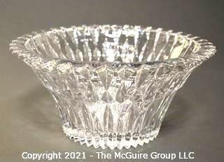 "Clear Crystal Glass Serving Bowl; 10"" diameter x 5""T"
