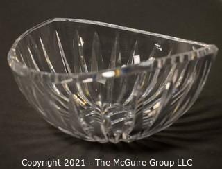 "Waterford Crystal Bowl with elliptical rim; 7 3/4"" diameter x 3 3/4""T"
