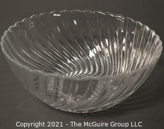 """Glass Bowl; Swirl Pattern; 10 3/4"""" diameter x 4 1/2""""T"""