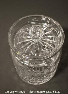 "Waterford Crystal ""Colleen"" Biscuit Barrell or Jar with lid; 7""T"