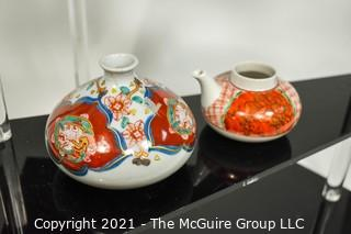 Group of Porcelain & Ceramic Decorative Items, Several Asian with Makers Marks.