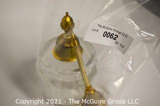 """Large Crystal Lalique Atomizer Flacon with Frosted Birds Surrounding Top and Etched Signature on Base.  Measures approximately 6 1/4"""" tall.  (Note: Description changed 4/7 at 3:05pm)"""