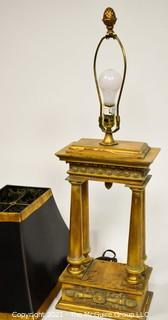 Gilt Resin Table Lamp