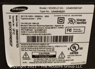 "Samsung 39"" TV (screen measured diagonally)"