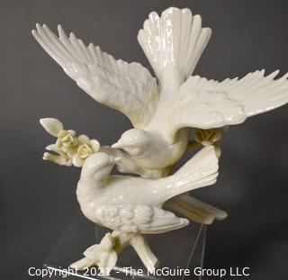 Collection of Decorative Items Including Porcelain Lenox Bird Figurine.