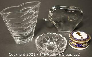 Group of Decorative Items Including Porcelain & Crystal.