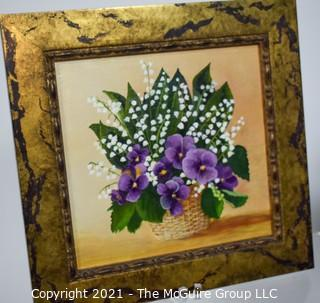 Grouping of decorative framed art