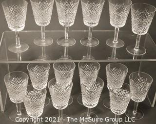 """Waterford Crystal - Alana Pattern: <br> <br>    (16) 7"""" tall Water Goblets"""