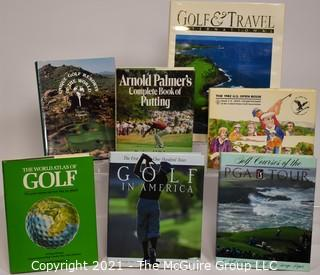 Grouping of (7) coffee table books on golf