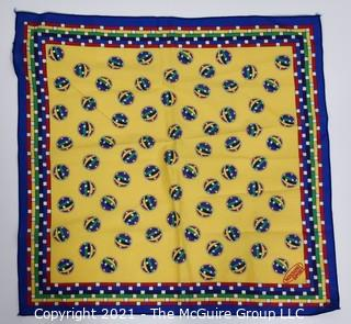 """Small Yellow Cotton Bandana or Scarf by Missoni Sport. Measures approximately 19"""" square."""