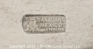 """Round Sterling Silver Serving Tray or Plate by Sanborn's Mexico.  Measures approximately 8"""" diameter"""