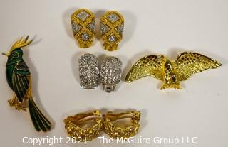 Group of Costume Jewelry including Erwin Pearl and Christian Dior Earrings.